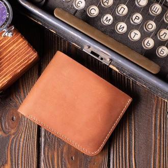 Кожаный мужской кошелек Бифолд, на выбор 10 цветов | 1_0037M_BEF