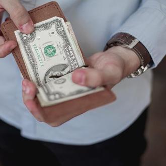 Мужской зажим для денег из натуральной кожи_темный шоколад