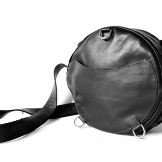 Жіноча шкіряна сумка рюкзак трансформер