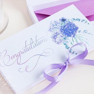 """Gift Box """"Sofia"""" Цвет 2 (фиолетовый) - открытка в коробочке"""