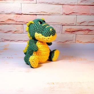 Игрушка вязаная Крокодил