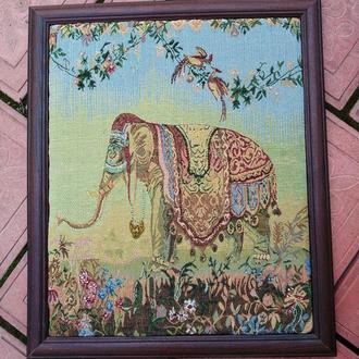 Картина из гобелена слон