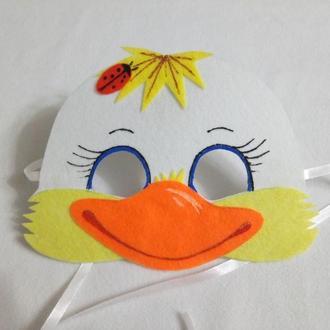 Карнавальная маска Уточка