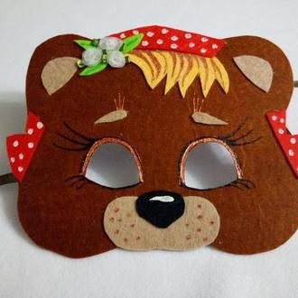 Карнавальная маска Мама-медведица