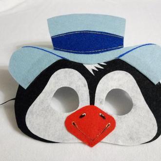 Карнавальная маска Пингвин в шляпе