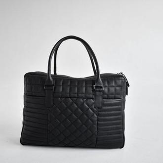 Деловая стёганная сумка из натуральной кожи TB Business Bag-tb100