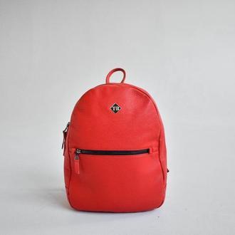 Стильный городской рюкзак из эко-кожи city red -tb010