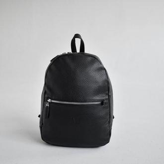 Стильный городской рюкзак из эко-кожи city black -tb011