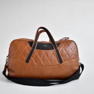 Дорожная сумка из натуральной кожи Auto-Sport Bag tb003