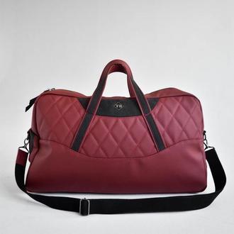 Дорожная сумка кожа Auto-Sport Bag tb003-22