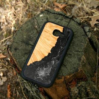 Защитный чехол из дерева и смолы на iPhone 6/7/8/X/Xs/xsmax