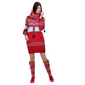 Авторское трикотажное платье-свитер