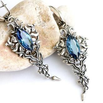 Серебряные серьги Вальс, серебро 925 пробы