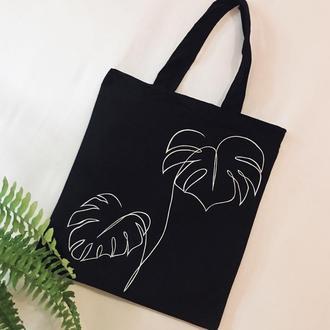 """Эко -сумка шоппер """"Листья"""""""