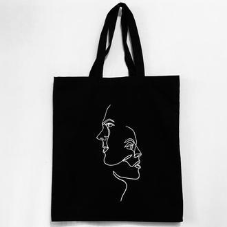 """Эко-сумка  шоппер """" Лица"""""""