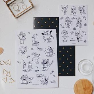 Стікери / наліпки / наклейки для блокнота / наклейки / stickers / стикеры / стикеры для планера