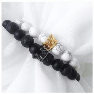 Парные браслеты с коронами 2