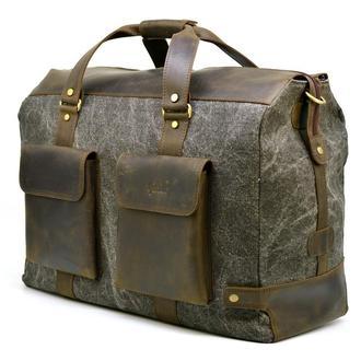 Дорожная стильная сумка парусина+кожа RG-4353-4lx TARWA
