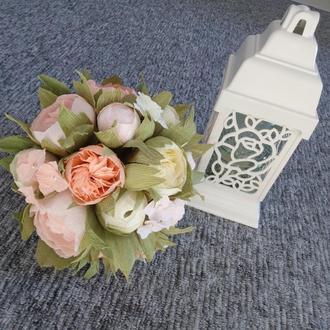 """Букет невесты - дублер """"КАРАМЕЛЬ"""". Букет из бумажных цветов."""