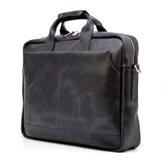 """Мужская сумка для ноутбука 17"""" из натуральной кожи RA-1019-4lx от TARWA"""