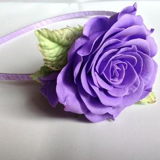 Ободок из фоамирана роза