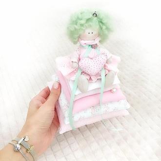 Принцесса на горошине, кукла тильда оригинальный подарок сувенир оберег талисман