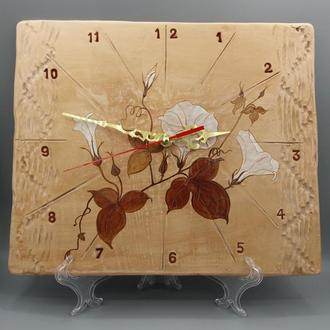 """Часы керамические настенные """"Цветы"""""""