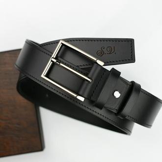 Кожаный ремень ширина 4 см, Оригинальный ремень, мужской кожаный ремень, Ремень Morison atelier