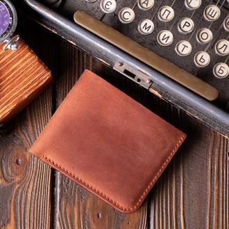 Шкіряний чоловічий гаманець Бифолд, 10 кольорів на вибір | 1_0037M_BEF