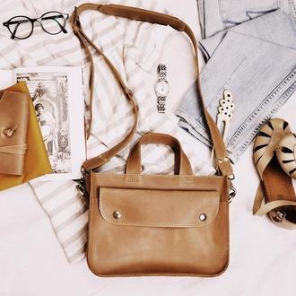 Кожаная сумка Алиса
