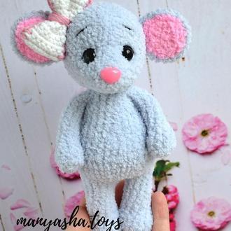 Вязаная игрушка. Мышка