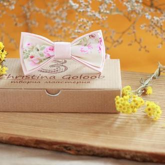 """Бабочка розовая пудра """" Romantik"""""""