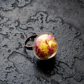 Кольцо с сухоцветами