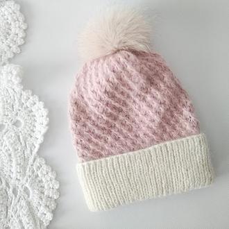 Вязаная шапка Sweet (royal baby alpaca)