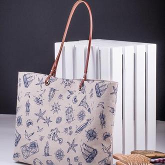 Летняя сумка, Пляжная сумка, Женская сумка, Сумка шоппер