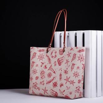 Женская сумка, Летняя сумка, Пляжная сумка, Сумка шоппер