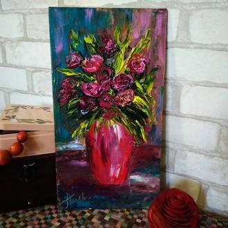 "Картина маслом ""Троянди"""