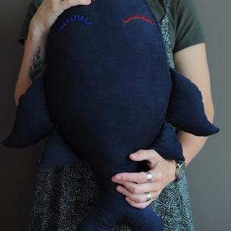 """подушка-іграшка """"Темно-синій кит"""""""