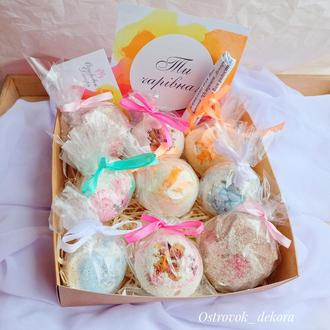 Набор релакс-бомбочек для ванн «Ароматная фантазия», подарок для девушки, сестры, подруги, кумы