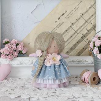 Интерьерная, текстильная кукла-малышка, 10 см.