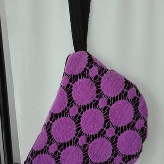 Сумочка косметичка женская фиолетового цвета