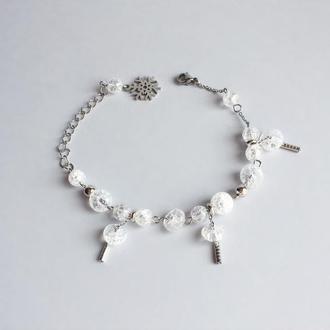 Браслет из горного хрусталя  (модель № 386) JK jewelry