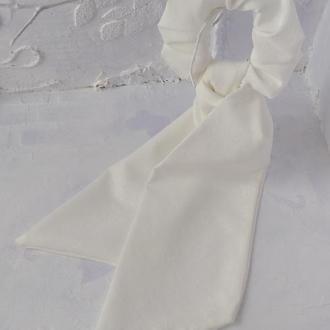 Резинка-платок молочного цвета