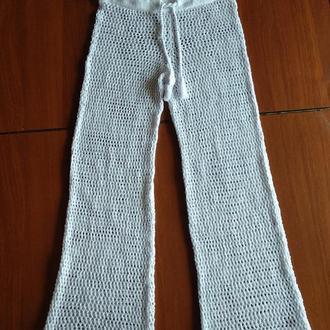 Ажурные вязаные  брюки