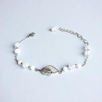 Браслет из  горного хрусталя (модель № 389) JK jewelry