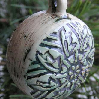 Керамическое украшение - декор на елку