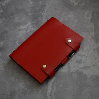 Кожаный  ежедневник блокнот со сменными тетрадями на 2019-2020 год