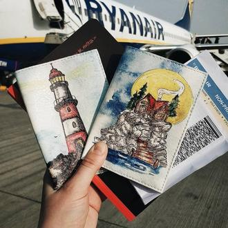 "Обложка на документы ""остров"". Паспорт или id карта"