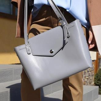 Кожаная сумка шоппер (art:40028)