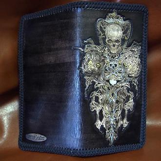 кошелек со скелетом, кошелек с черепом, готический кошелек